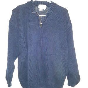 Eddie Bauer basic blue sweater